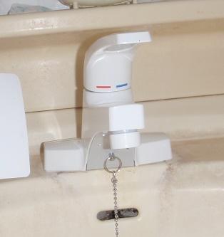 洗面化粧台 蛇口交換 シングルレバー水栓交換 KVK 群馬県前橋市