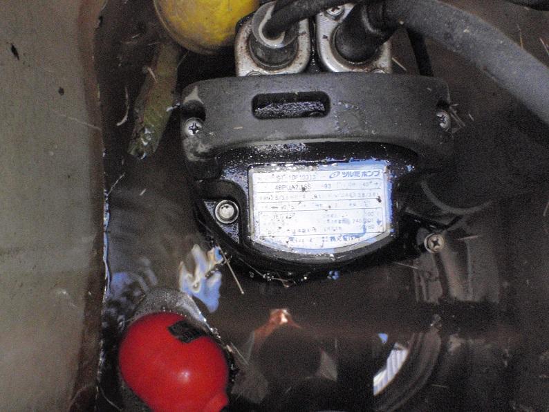 水中ポンプ交換工事 排水修理工事 ツルミポンプ 伊勢崎市境