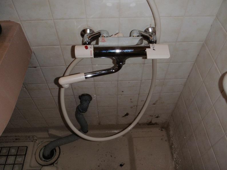 サーモシャワー交換 シャワー交換 風呂蛇口交換 サンエイ 太田市大舘町