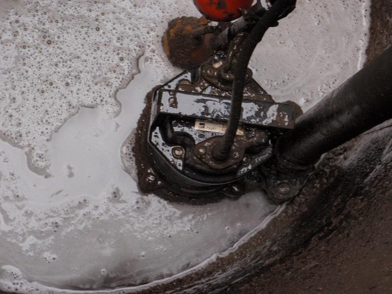 雑排水用水中ポンプ交換工事 排水修理工事 エバラ 伊勢崎市