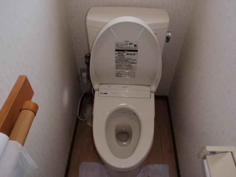 ウォシュレット交換工事 トイレ修理工事 水道工事 TOTO 前橋市